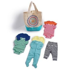 NWT Primary Baby First Rainbow Starter Set 0-3mo